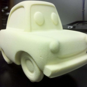 Car character foam cut