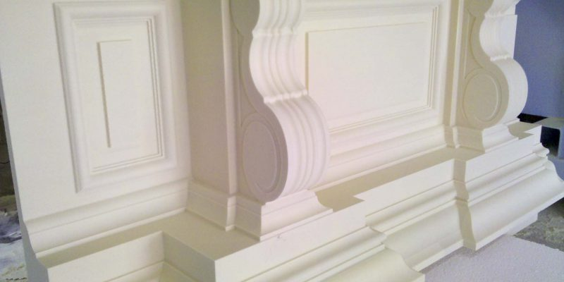 Foam architectural molding - 5 axis CNC